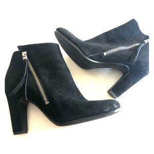 Sam Edelman Sadee Black Suede Leather Heel Bootie
